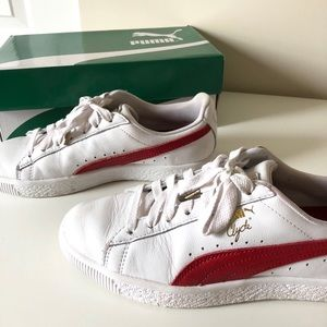 Puma Shoes - Puma Clyde core white red foil ae4ad174e